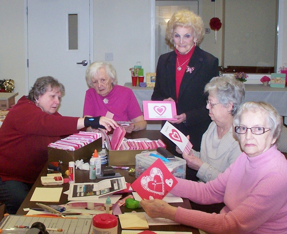 Birchez valentines from loving hands for Craft ideas for senior citizens